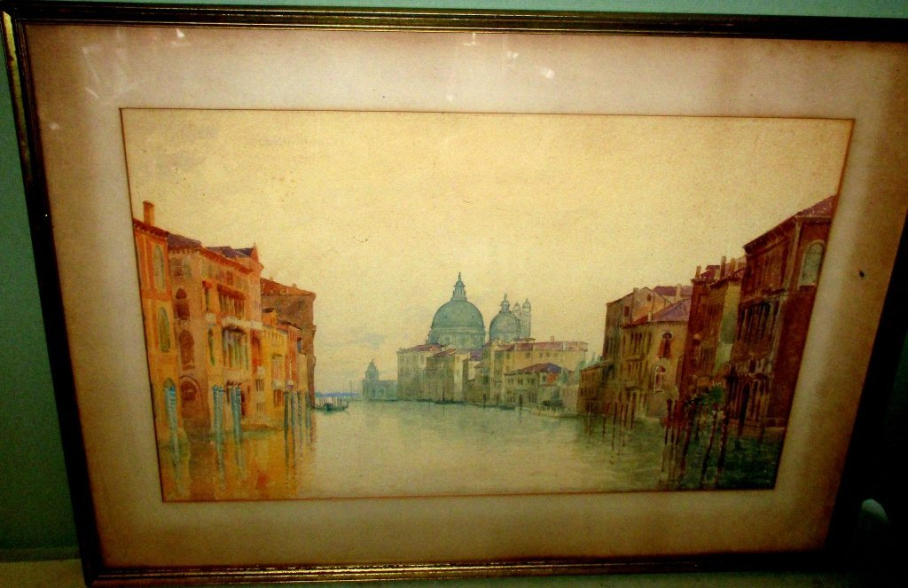 Watercolor Painting of Venice