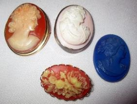 Lot of Four Vintage Cameos