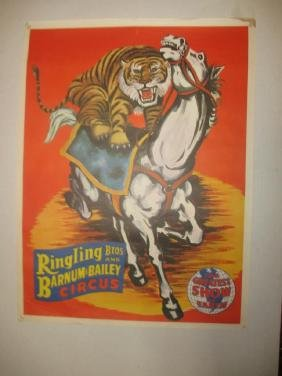 Original Barnum and Bailey Circus Poster