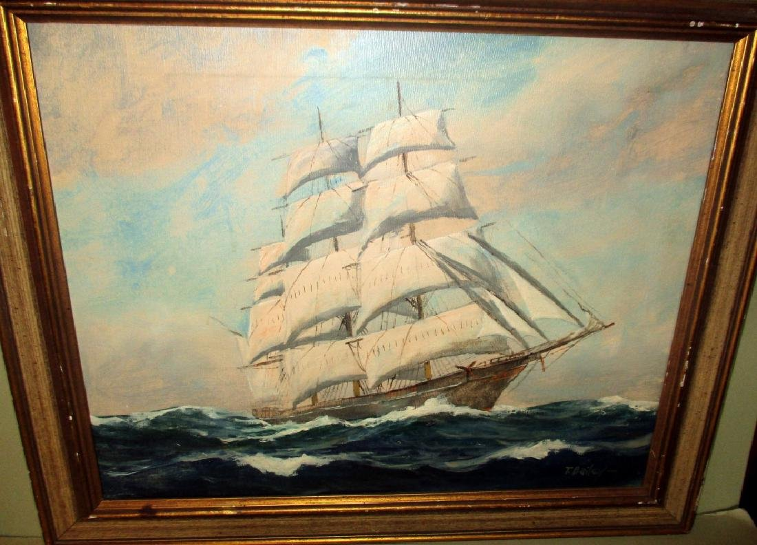 Ship Painting by T. Bailey