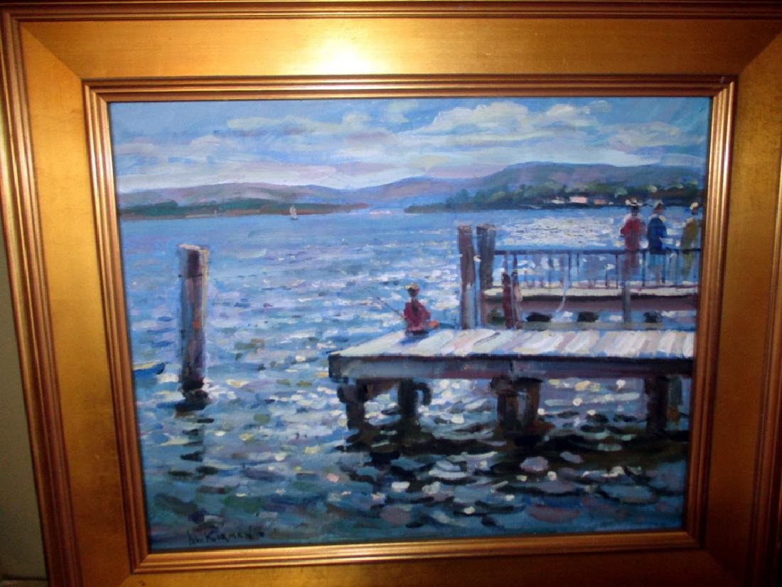 Impressionist Oil Painting of Dock