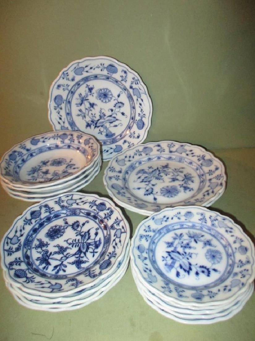 Miscellaneous Lot of Meissen Blue Onion Ware China
