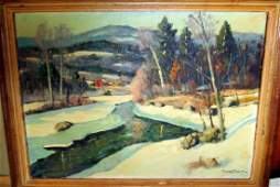 Oil Painting on Canvas, Vermont