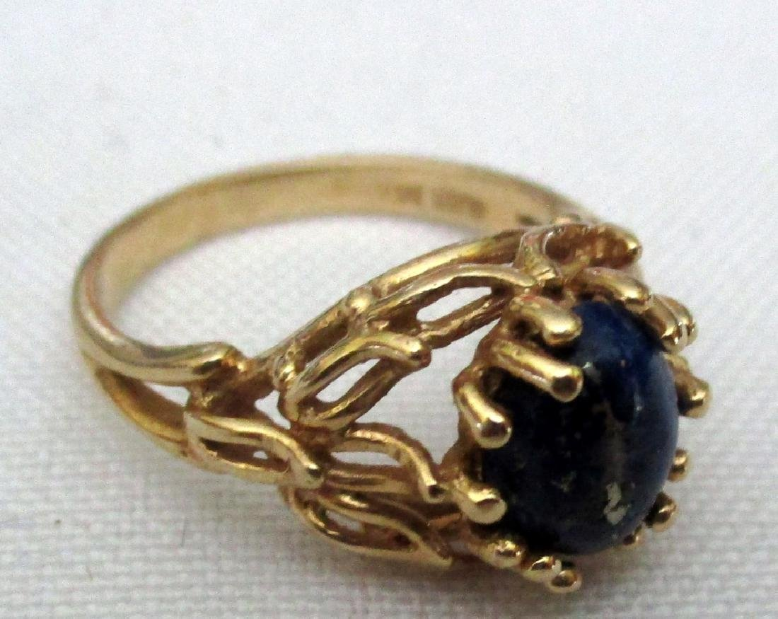 14k Gold Lady's Ring with Lapis