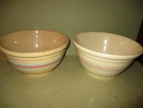 Two Large Yellow Mixing Bowls