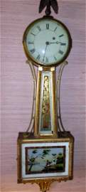 Early American 19th Century Banjo Form Wall Clock