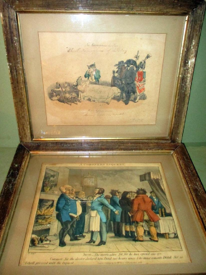 Two Early 19th Century Colored Engravings