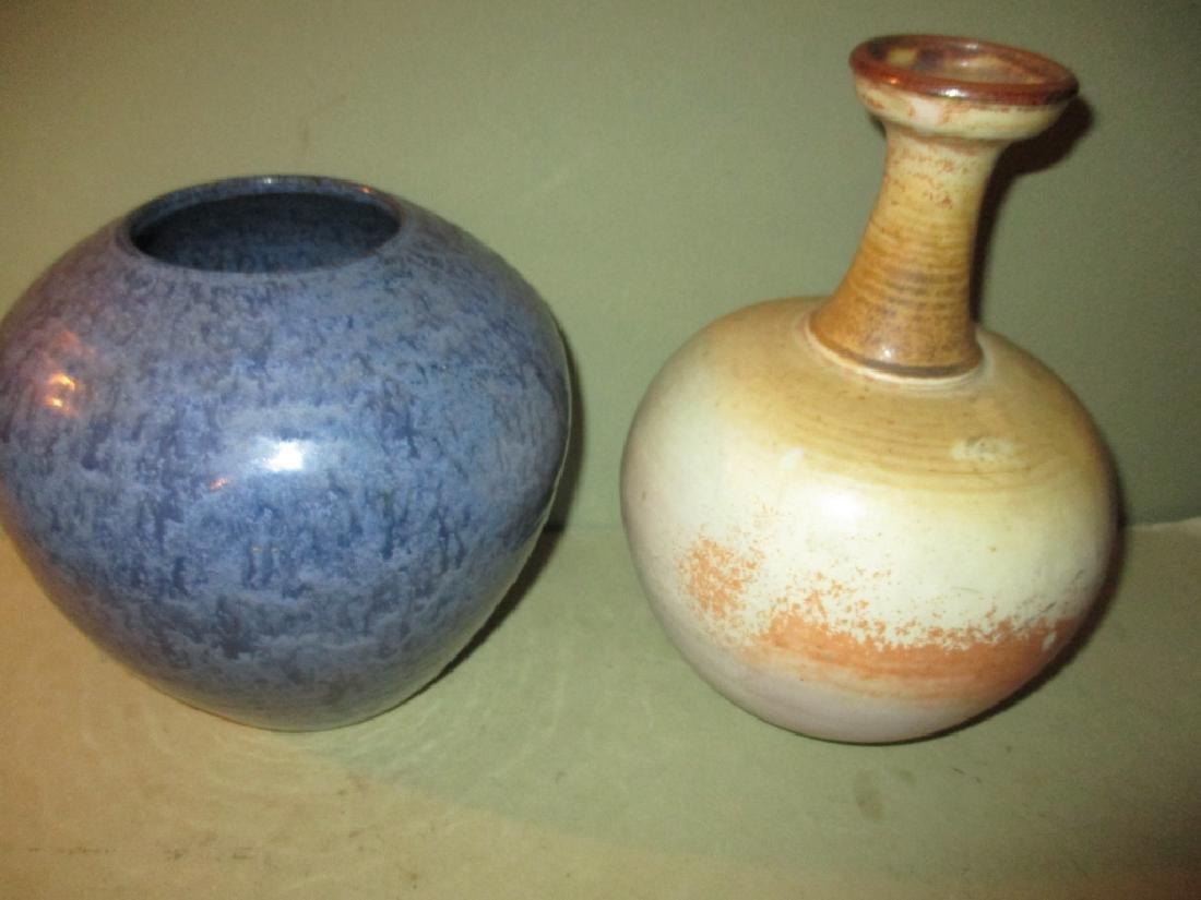 Two Mid-Century Studio Pottery Vases