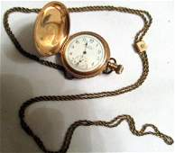 Lady's Victorian Waltham Pocket Watch and Chain