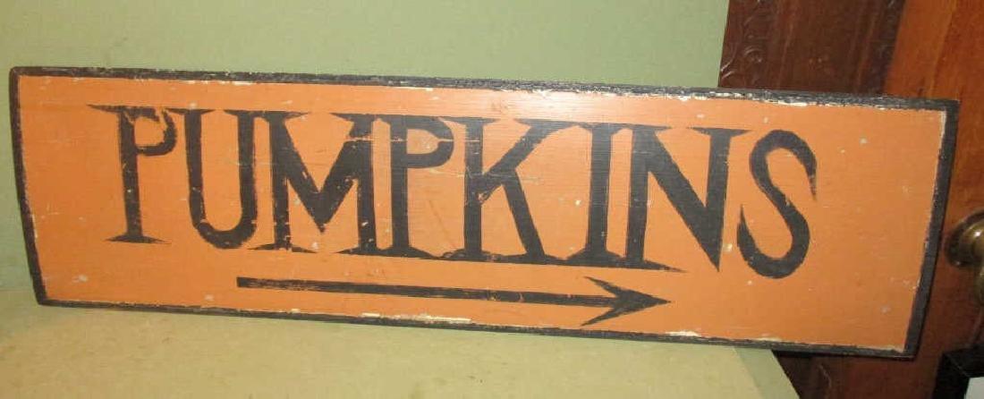 Antique Pumpkin Sign