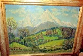 Oil Painting on Masonite Signed W. Thiel