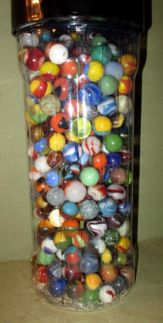 Jar Filled with Old Marbles