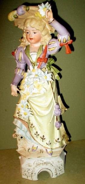 Bisque Porcelain Figurine of Girl