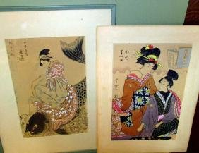 Two 1930's Copies of Japanese Block Print