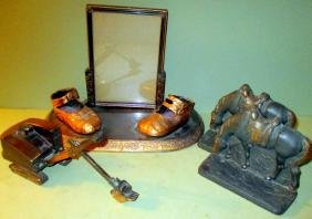 Lot of Three Vintage Desk Items