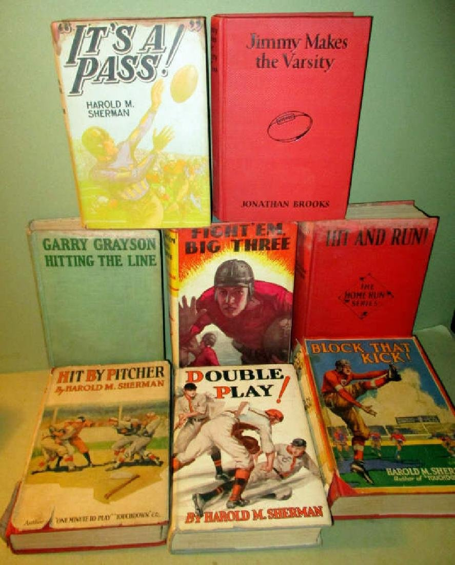 Lot of Eight Sports Books Circa 1920s