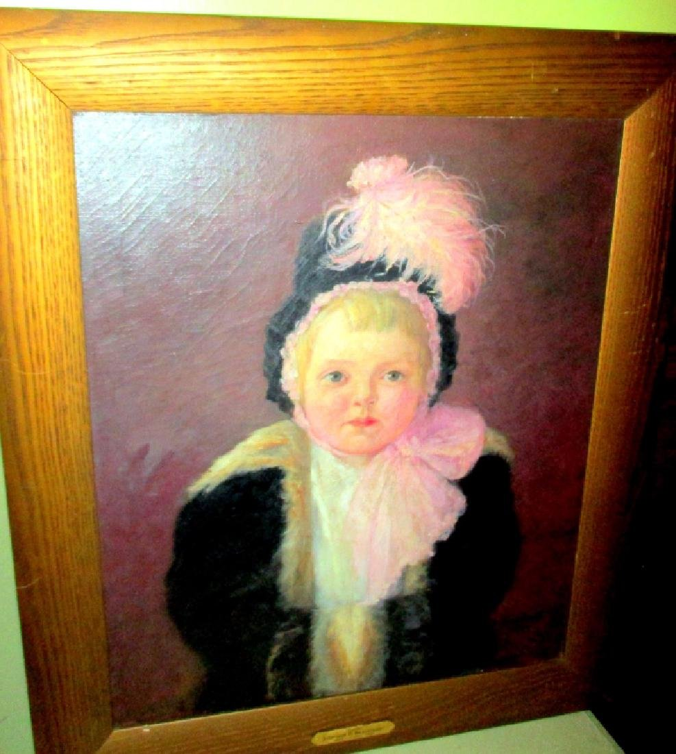 Oil Painting of a Victorian Child