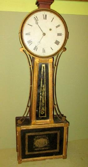 Early 19th Century American Banjo Wall Clock