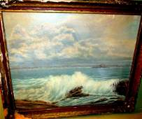 Oil Painting on Board of Sea-Scape