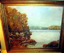 Landscape Oil Painting on Wood Panel