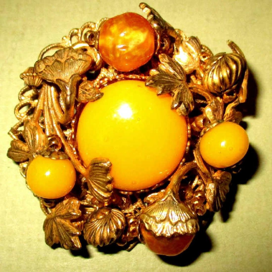 Lady's Costume Brooch Signed Miriam Haskell