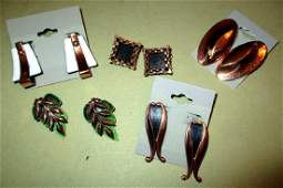 Lot on Renior Vintage Copper Toned Earrings