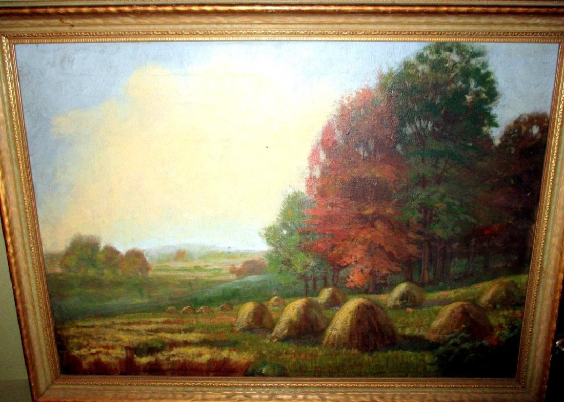 Pastoral Autumn Oil Painting