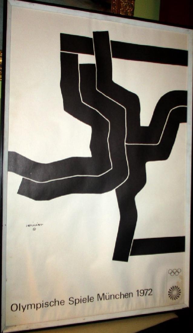 Original 1972 Munich Olympic Poster