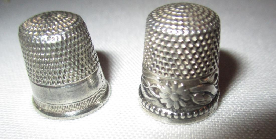 Two Sterling Sewing Thimbles