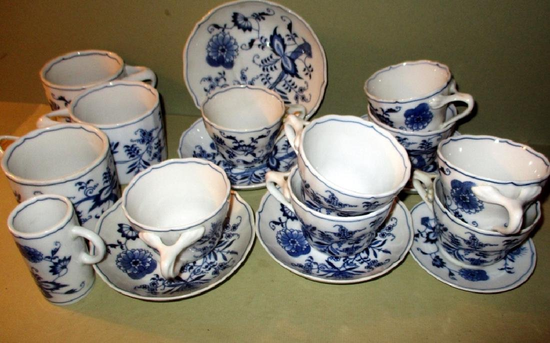Misc. Lot of Blue Danube Cups & Saucers