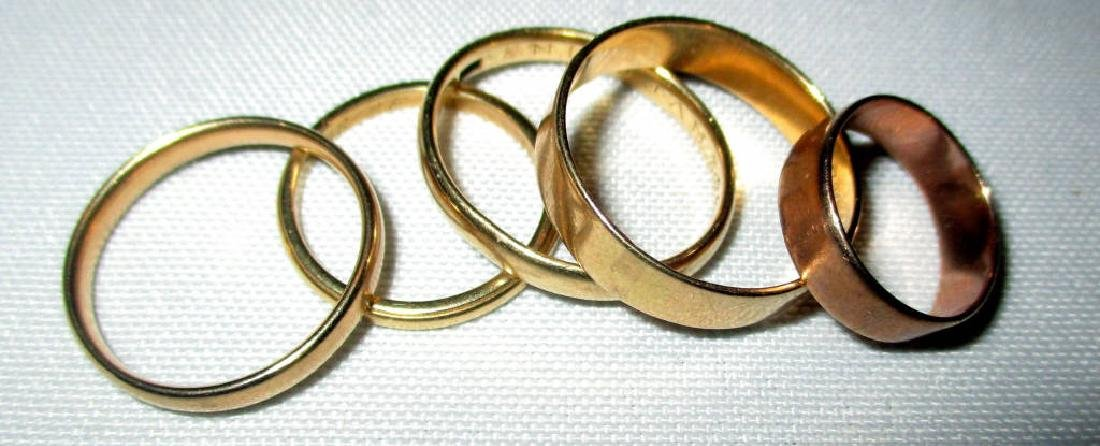 Five Gold Wedding Bands