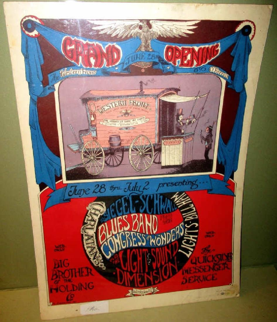 Vintage Poster Big Brother & Holding Company 1967