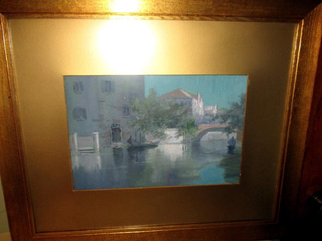 Watercolor Painting of Venetian Canal