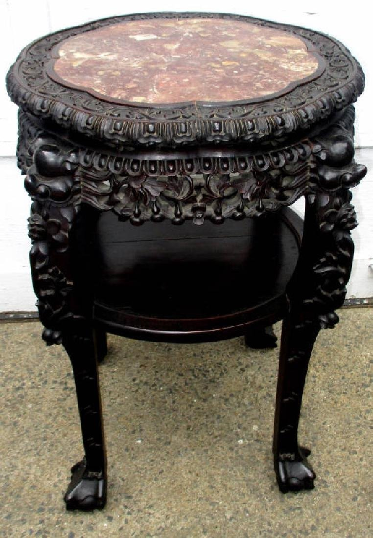 Large Carved Chinese Stand