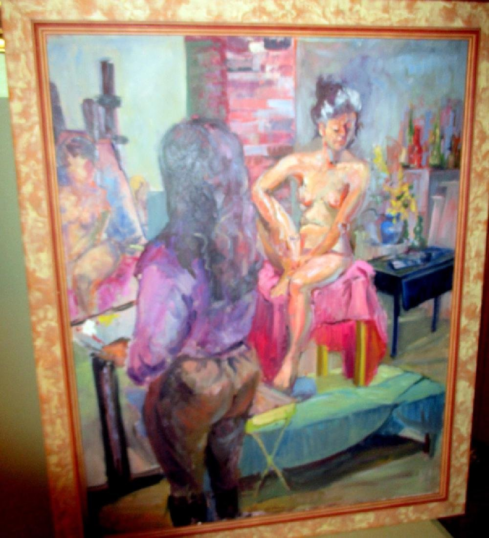 Oil on Canvas of Artist Studio by Em Marquis