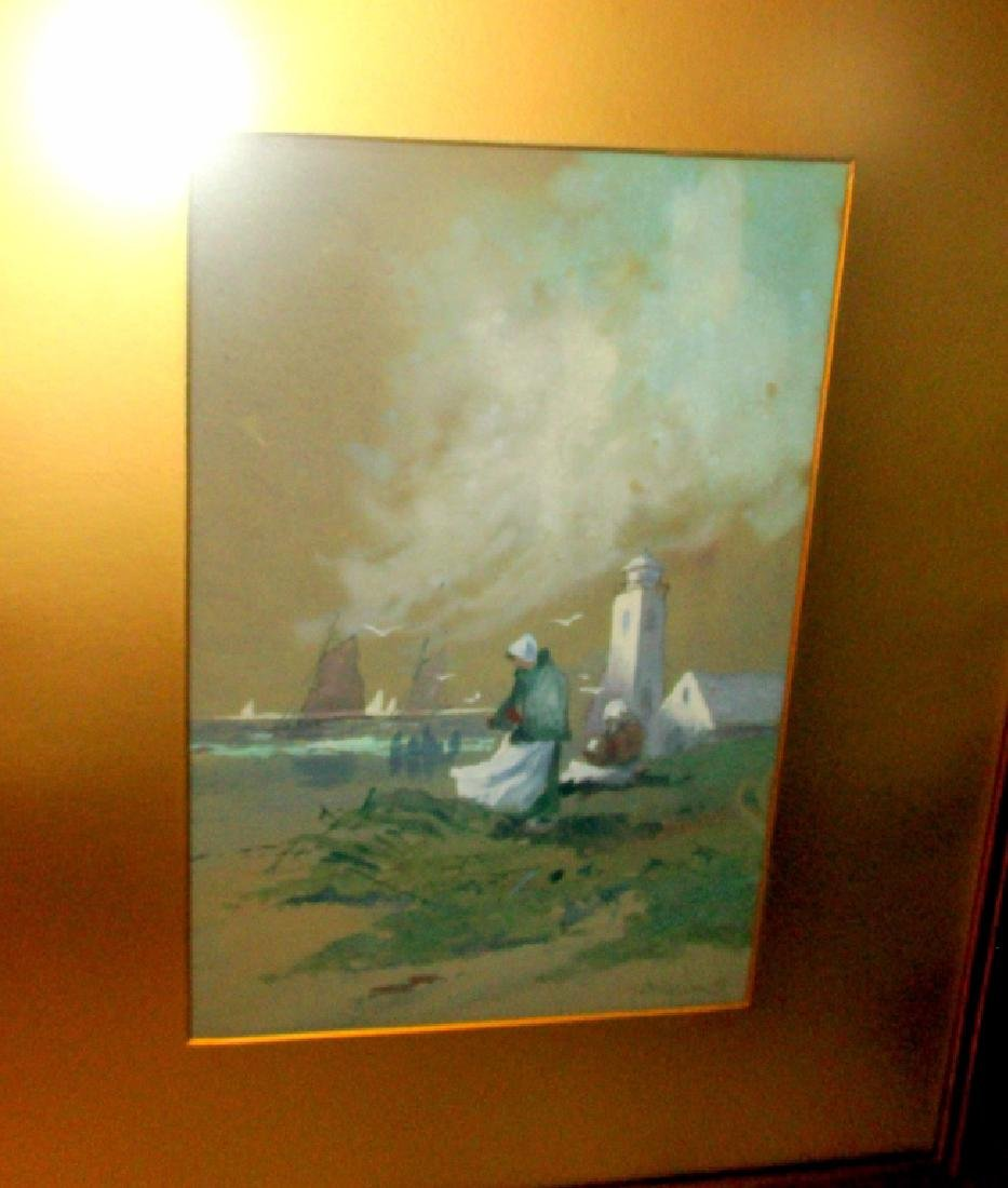 Framed Watercolor by W F Dell