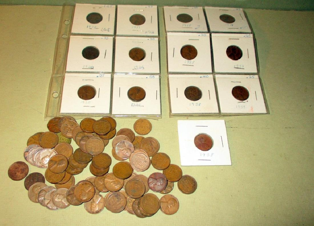 Large Lot of Lincoln Head Wheat Pennies
