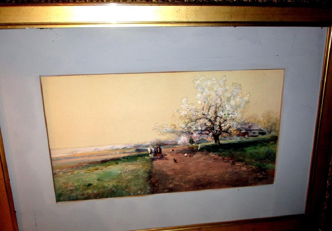 Watercolor Painting by F F English