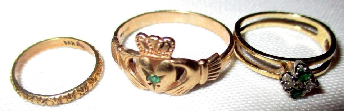 Lot of Three Gold Rings