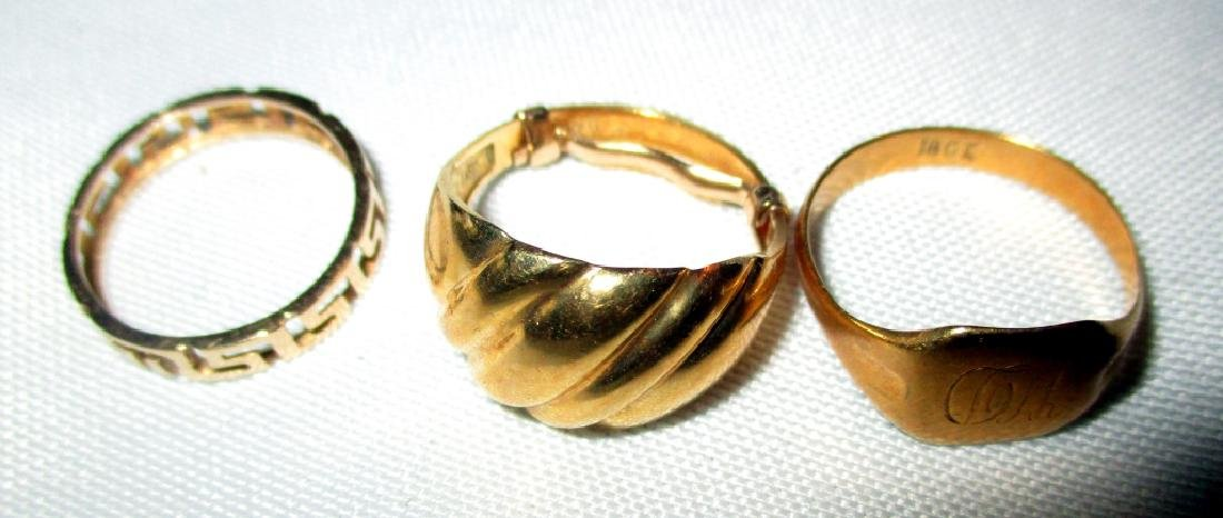 Three 18K Gold Rings
