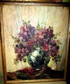 Large Floral Still Life Oil Painting