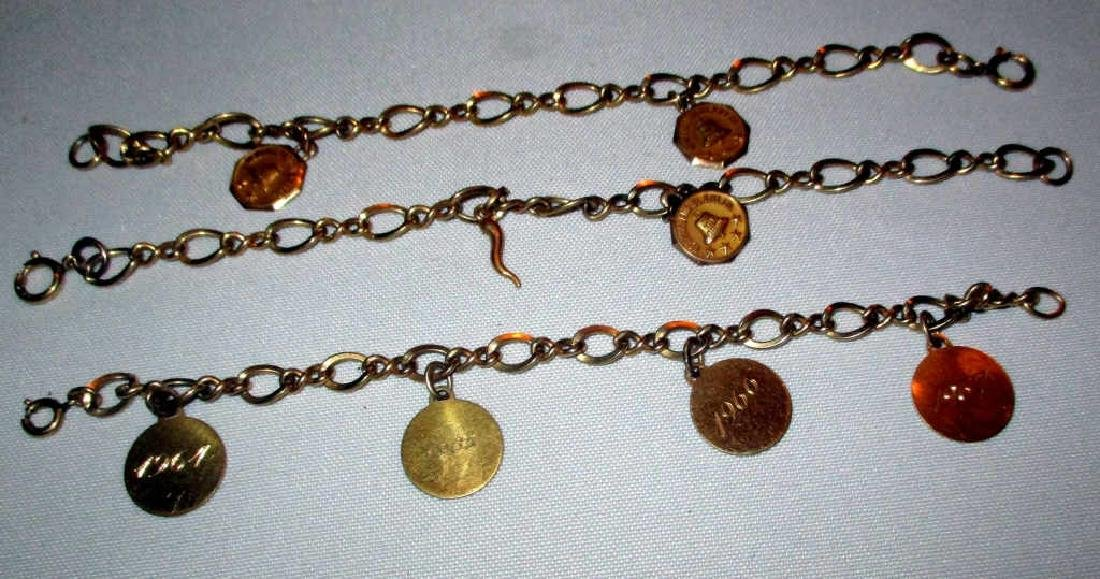 Three Gold and Gold Filled Bracelets
