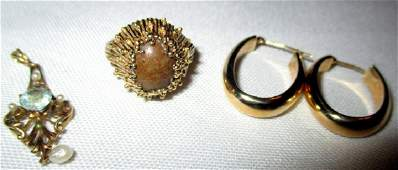 Lot of Three 14k Gold Pieces