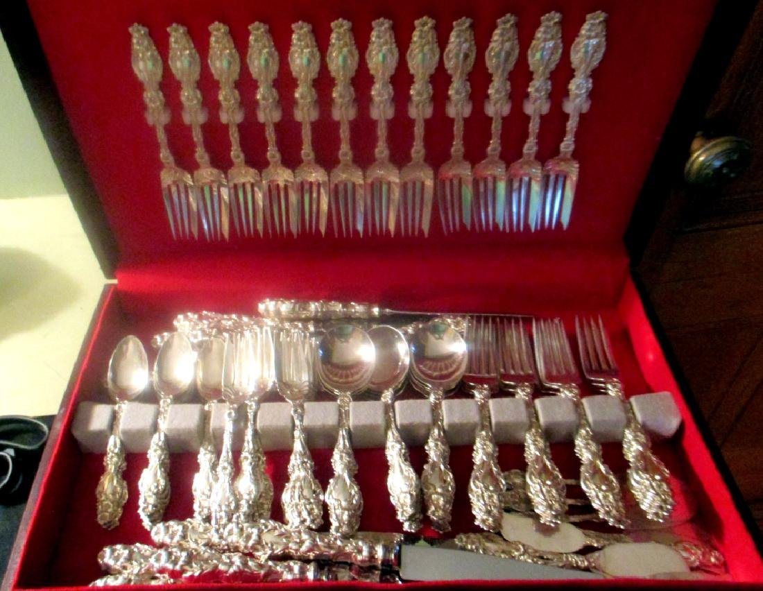 Sterling Flatware for 12 by Whiting