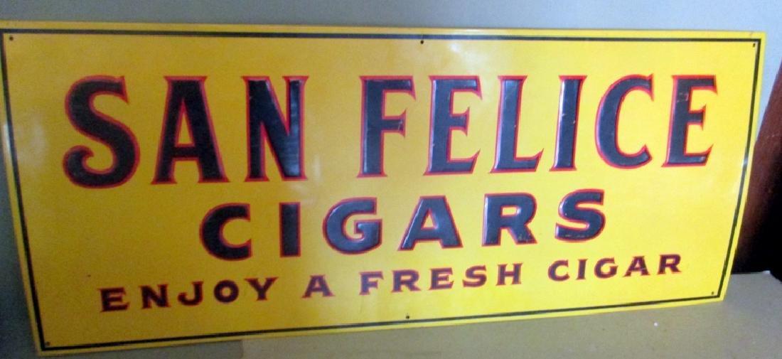 Painted Tin Cigar Sign