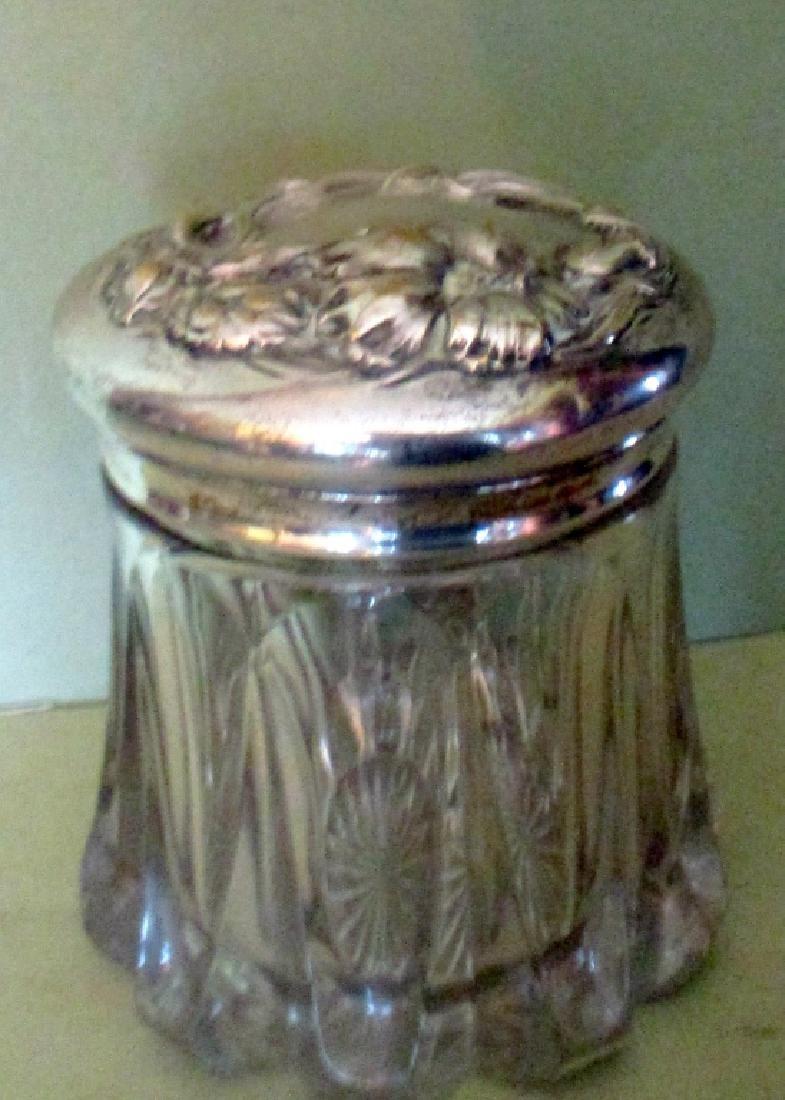 Covered Lady's Dresser Jar