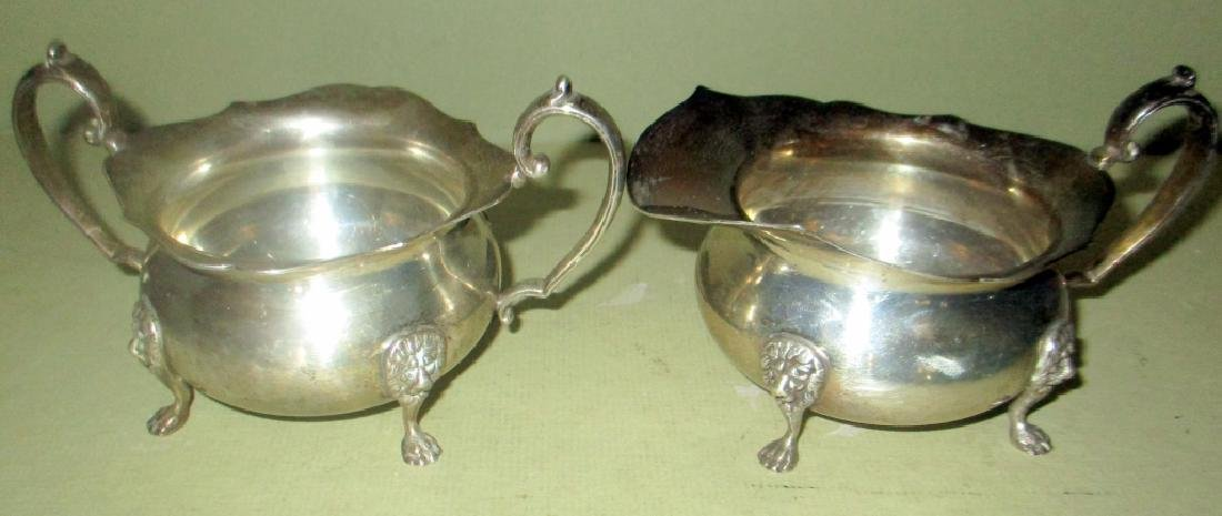 Solid Sterling Silver Sugar and Creamer