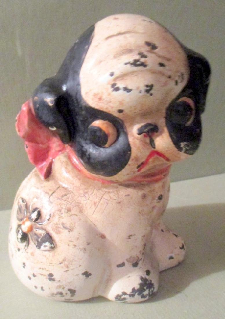 1920s Cast Iron Still Bank of Pug Dog