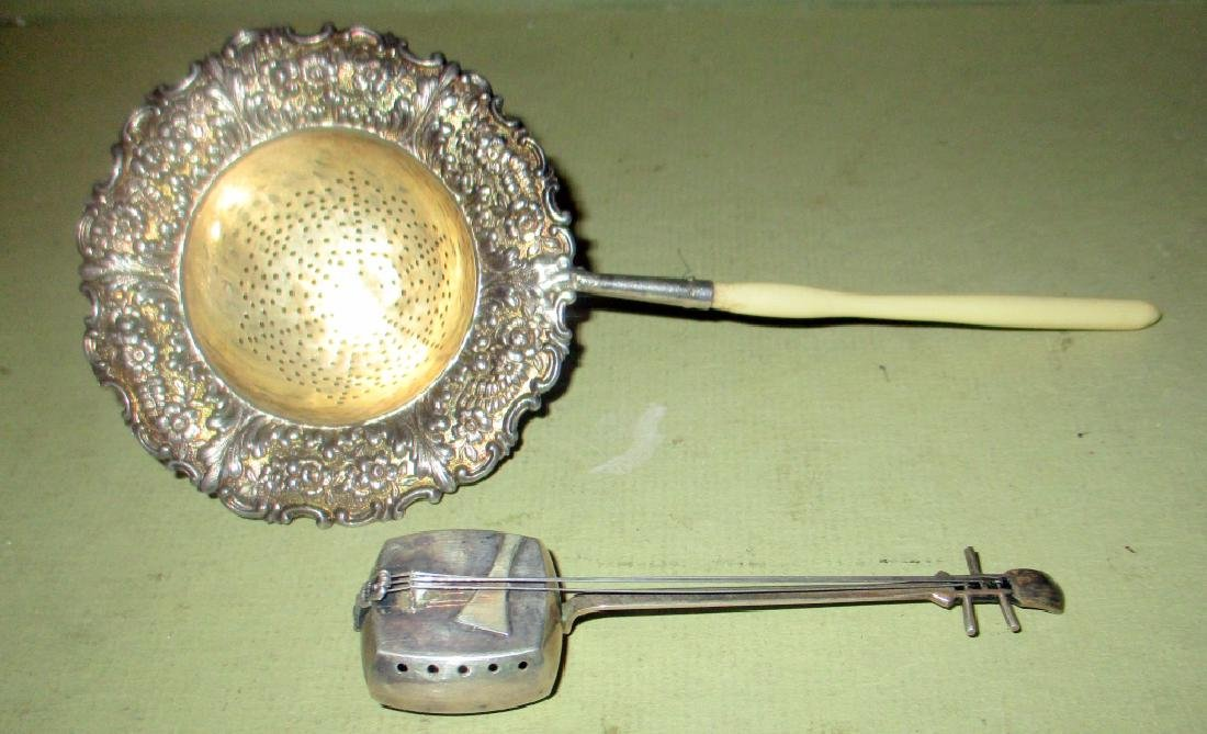 Tiffany Sterling Tea Strainer & Silvercraft Mixer