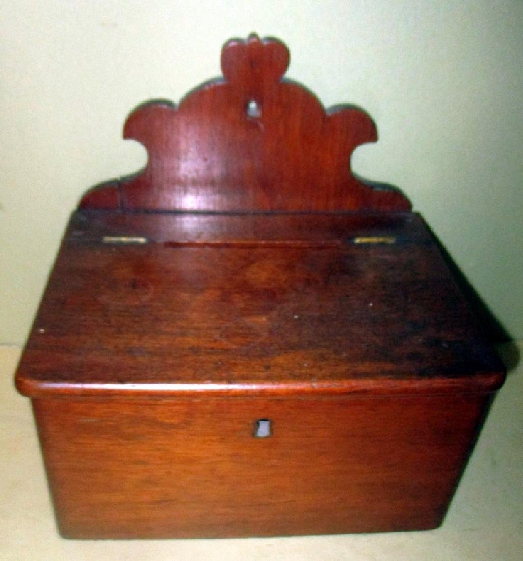 Antique Mahogany Letter or Rent Box